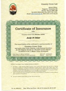 C³ Parchment Paper Certificate & Printed Policy